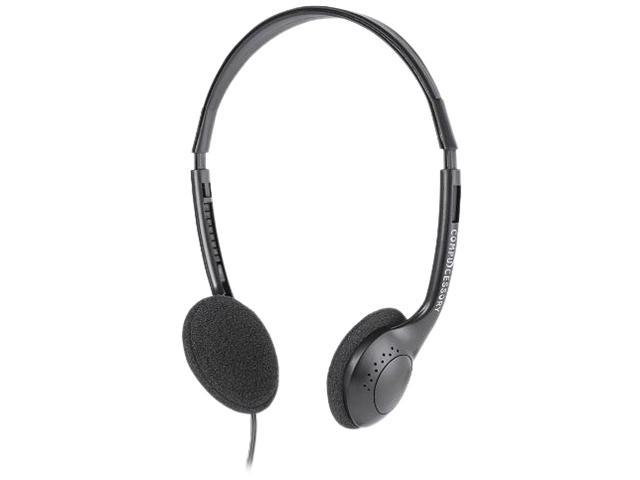 Compucessory Folding Stereo Headsets-Foldable Stereo Headset, Black