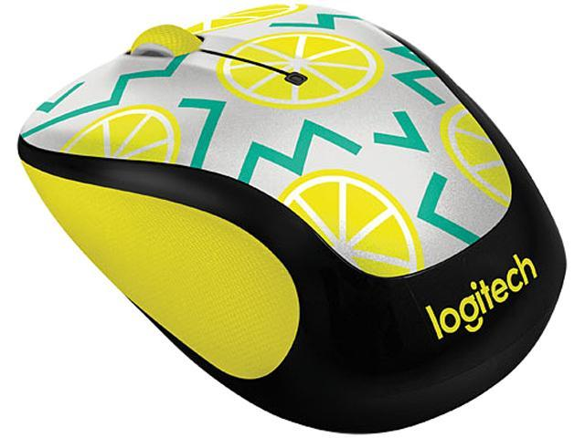 Logitech M325C 910-004682 Lemon 5 Buttons Tilt Wheel USB RF Wireless Optical 1000 dpi Party Collection Mouse