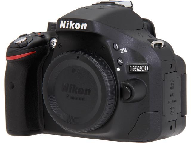 Nikon - D5200 24.1-Megapixel DSLR Camera (Body Only) - Black