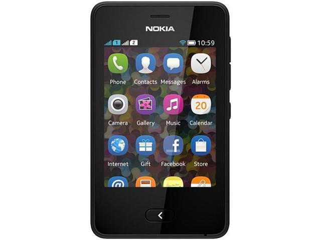 Nokia Asha 501 Black Touch Screen 3.15 MP Camera Bluetooth Unlocked GSM Cell Phone - OEM