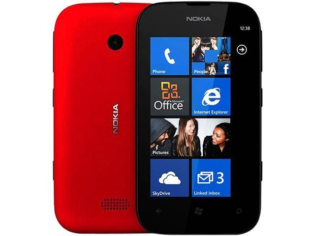 Nokia 510 Red 3G Windows Phone 8 Touch Screen 4GB 5.0MP Camera Unlocked GSM Cell Phone - OEM