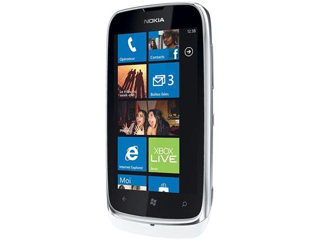 Nokia 510 White 3G Windows Phone 8 Touch Screen 4GB 5.0MP Camera Unlocked GSM Cell Phone