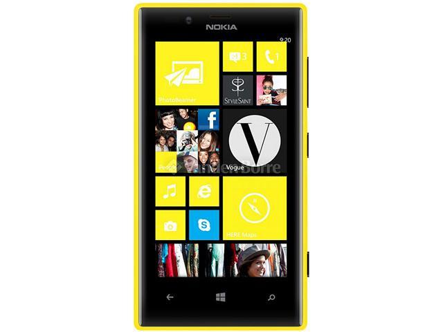 Nokia 720 Yellow 3G Windows Phone 8 Dual-Core 1GHz 8GB 6.1MP Camera Unlocked GSM Cell Phone - OEM