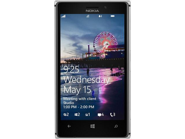 Nokia 925 White 3G LTE Windows Phone 8 Dual-Core 1.5GHz 16GB 8.0MP Camera Unlocked GSM Cell Phone