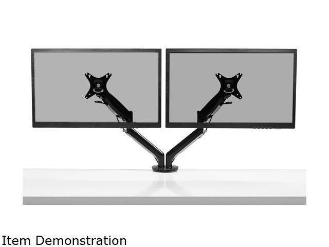 Kanto DMG2000 Dual-Monitor Desktop Mount for 17-inch to 27-inch Displays - Black