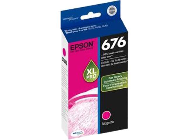 EPSON 676XL (T676XL320-S) Ink Cartridge 1,200 Page Yield; Magenta