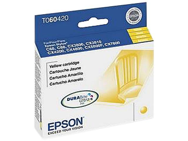 EPSON T060420-S Ink Cartridge 550 Page Yield; Yellow