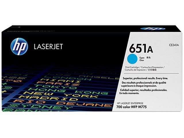 HP CE341A 651A Toner Cartridge Cyan