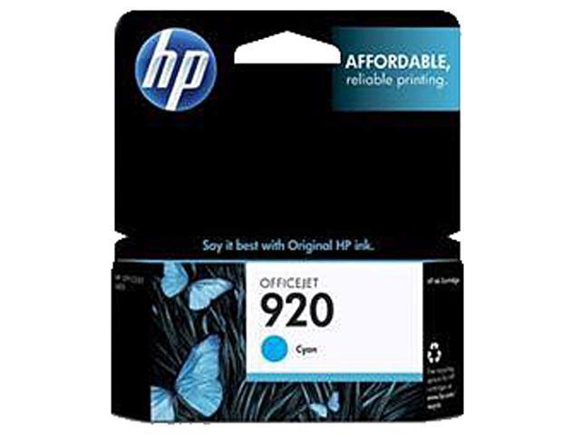 HP 920 (CH634AN#140) Ink Cartridge 300 Page Yield; Cyan