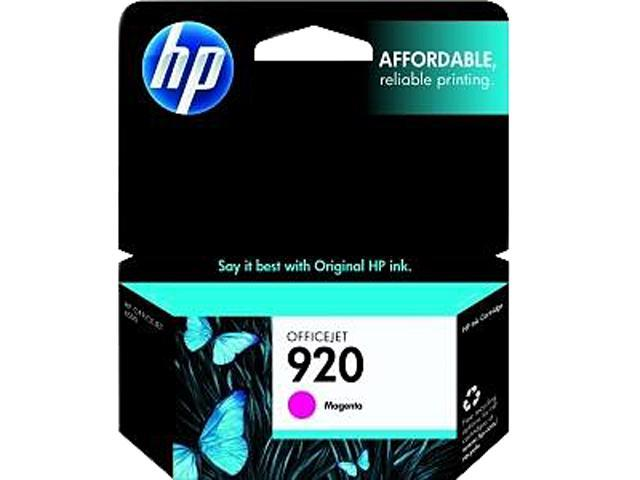 HP 920 (CH635AN#140) Ink Cartridge 300 Page Yield; Magenta