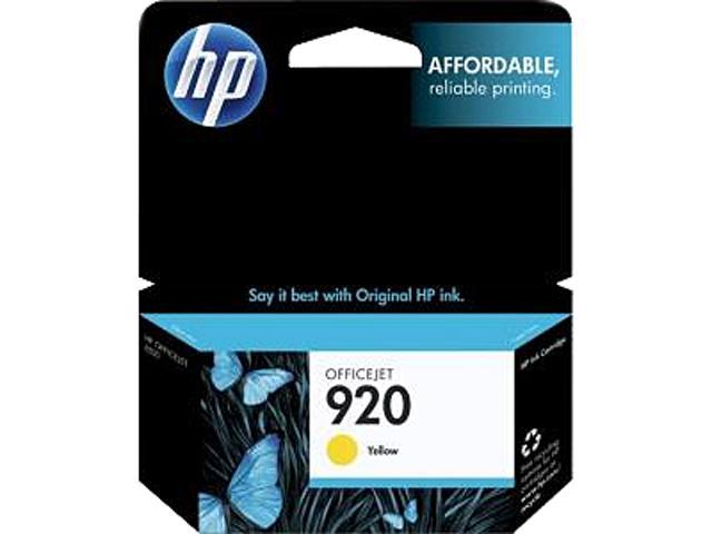 HP 920 (CH636AN#140) Ink Cartridge 300 Page Yield; Yellow