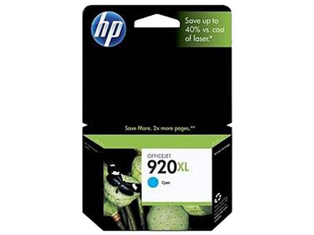 HP 920XL (CD972AN#140) Ink Cartridge 700 Page Yield; Cyan