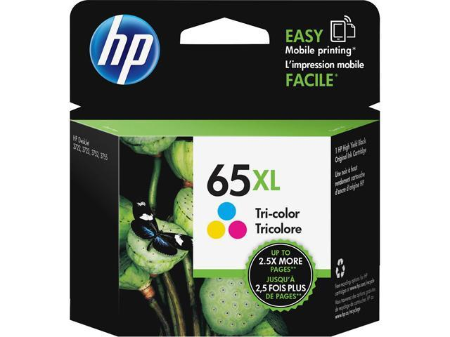 HP 65XL (N9K03AN#140) Ink Cartridge 300 Page Yield; Color