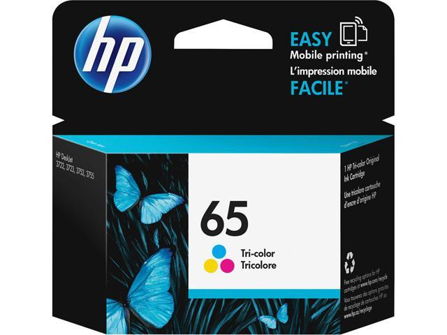 HP 65 (N9K01AN#140) Ink Cartridge 100 Page Yield; Color