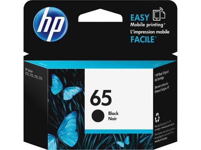 HP 65 (N9K02AN#140) Ink Cartridge 120 Page Yield; Black