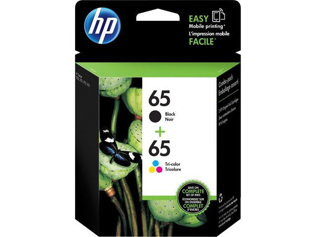 HP 65 (T0A36AN#140) Ink Cartridge 120 / 100 Page Yield; Black / Tri-color