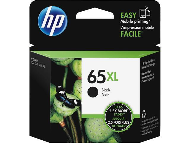 HP 65XL (N9K04AN#140) Ink Cartridge 300 Page Yield; Black
