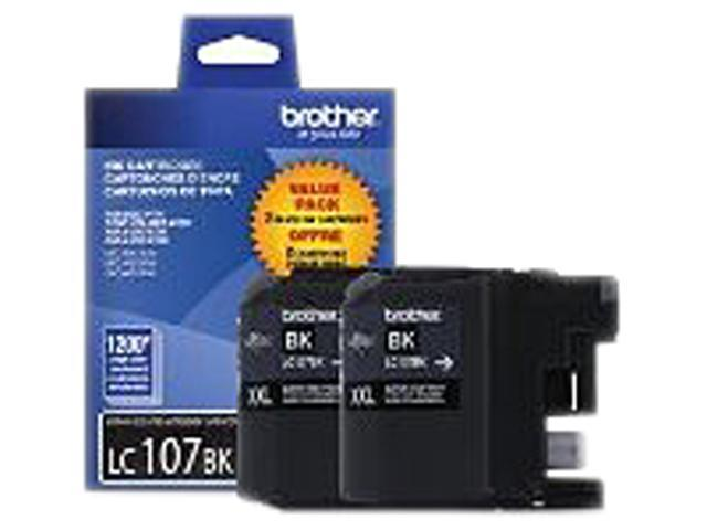 Brother LC1072PKS 2 Pack Black Ink