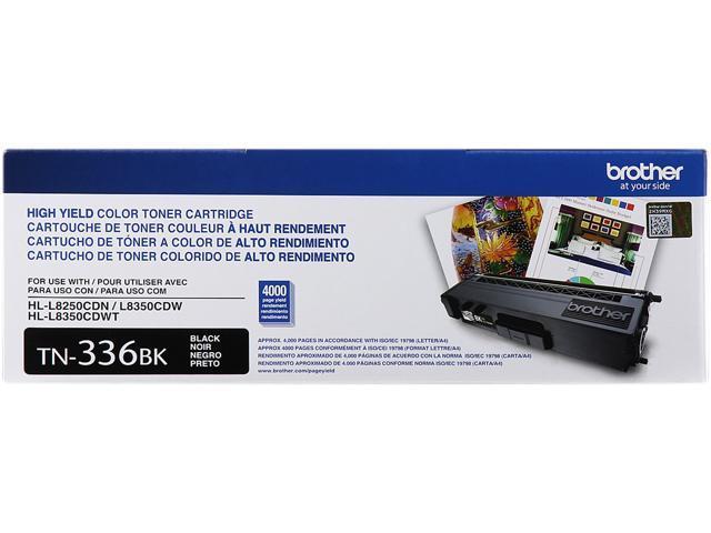 Brother TN336BK High Yield Toner Cartridge 4,000 Page Yield; Black