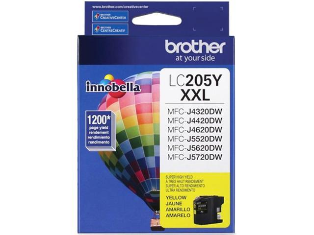 brother LC205YS Ink Cartridge 1,200 Page Yield; Yellow