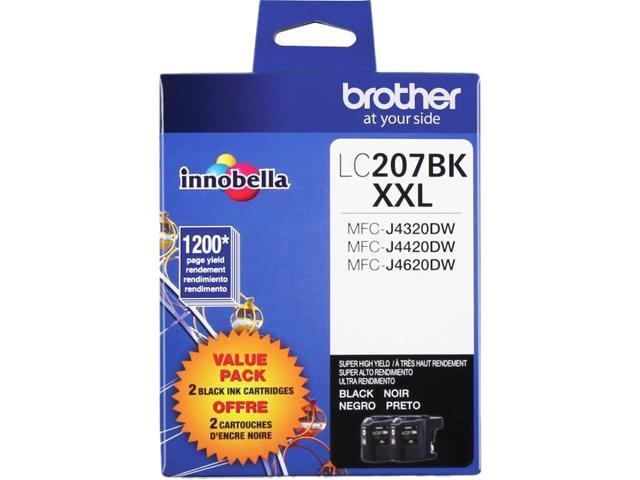 Brother LC207BKS Super High Yield Ink Cartridge 1200 pages; Black