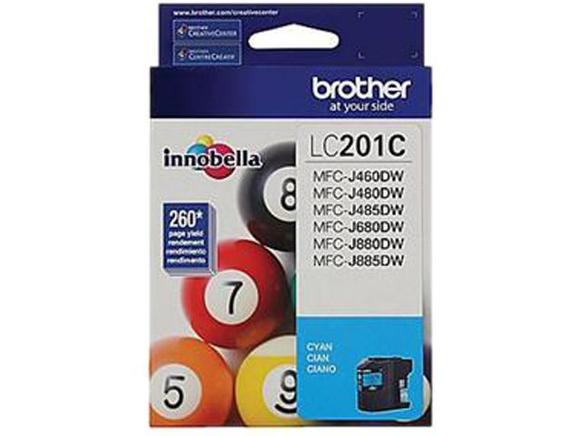 Brother LC201CS Ink Cartridge 260 pages yield; Cyan