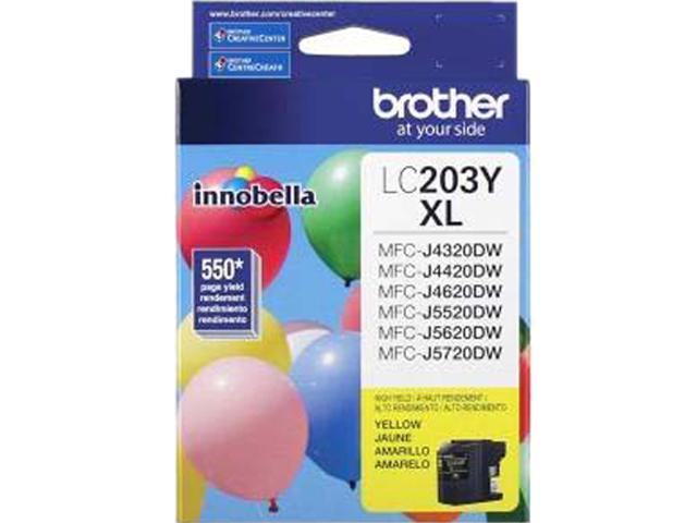 brother LC203YS Ink Cartridge 550 Page Yield; Yellow