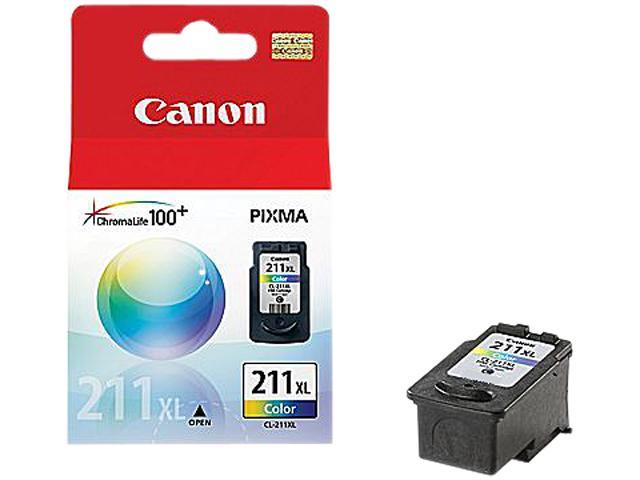 Canon CL-211XL (2975B001-K) Ink Cartridge 800 Page Yield; Color