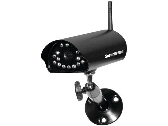 SecurityMan SM-816DT 640 x 480 MAX Resolution Add-on 2.4GHz digital wireless outdoor/indoor camera with audio & night vision