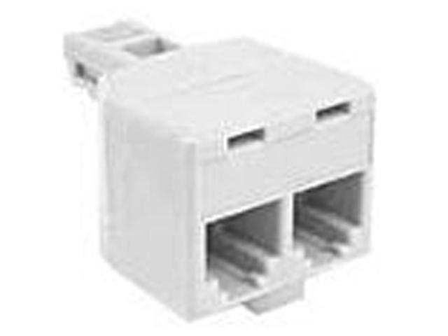 Belkin Components F8V106-3 2Outlet Duplex Adapter Rj12M-Rj12F Ivory