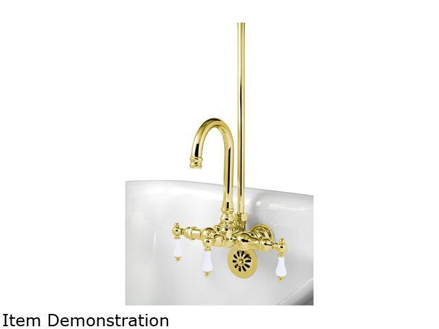 Polished brass shower