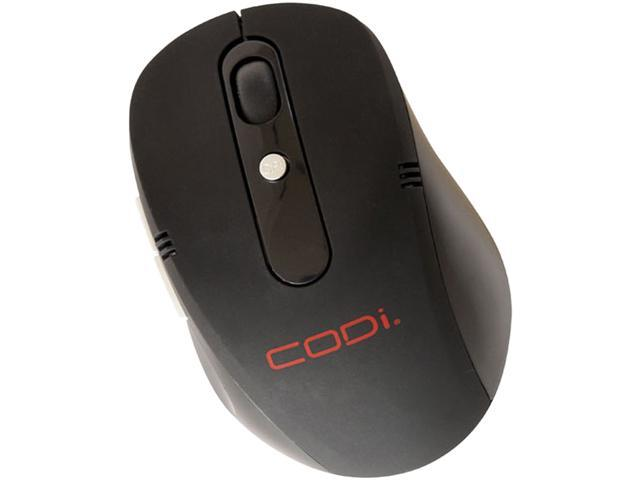 Codi 2.4GHz Wireless Optical Nano Mouse - Optical - Wireless - Radio Frequency - Black - USB - 1600 dpi - Scroll Wheel