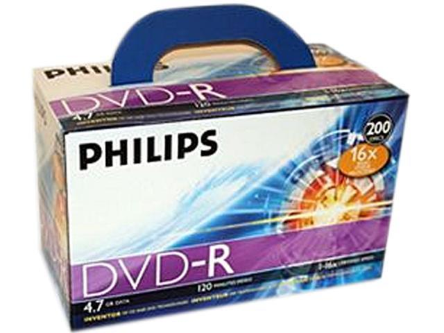 Philips DR4S6U02C/17 DVD Recordable Media - DVD+R - 16x - 4.70 GB - 200 Pack Box