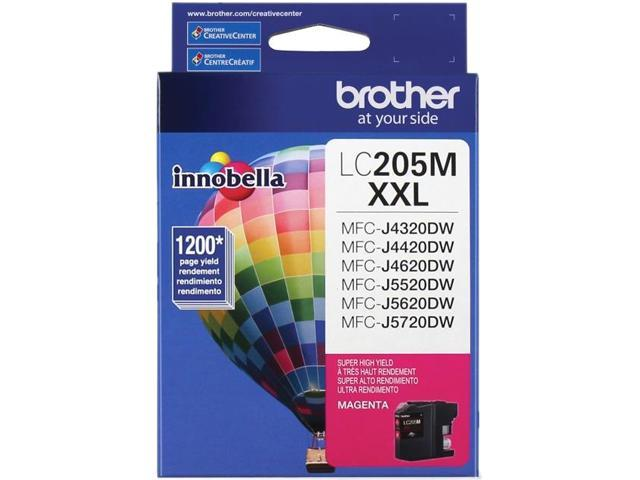 brother LC205MS Ink Cartridge 1,200 Page Yield; Magenta
