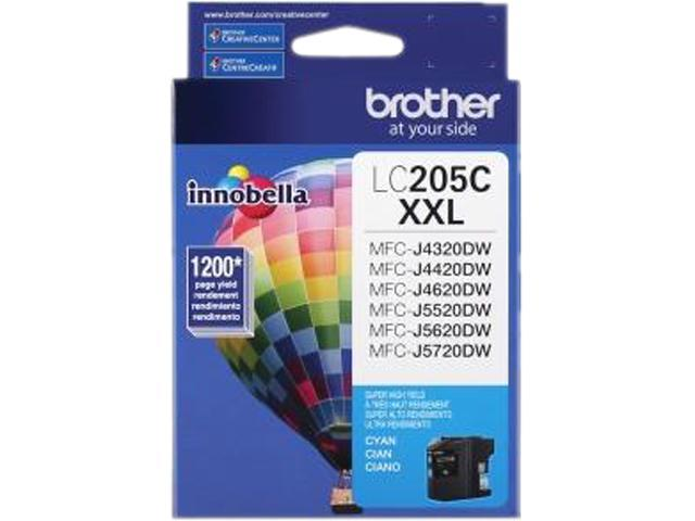brother LC205CS Ink Cartridge 1,200 Page Yield; Cyan