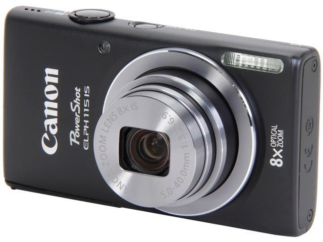 Canon PowerShot ELPH 115 IS Digital Camera (Black)