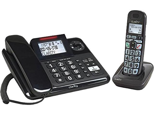 Clarity E814CC Amplified Corded Desk Phone with Answering Machine and Cordless Handset, 53727.000
