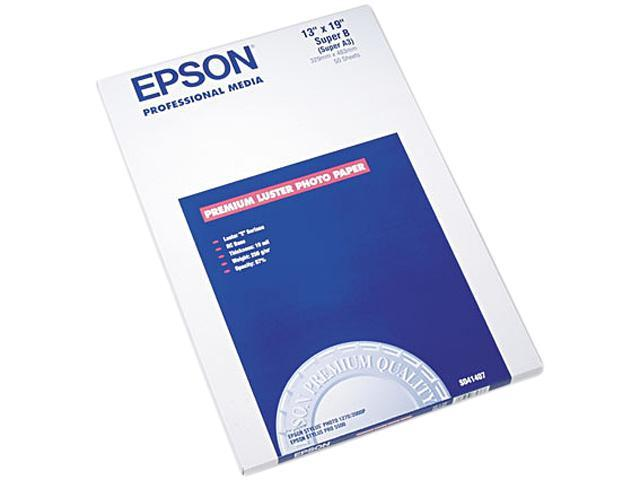 "Epson S041407 Photo Paper Super B - 13"" x 19"" - Luster - 97 Brightness - 50 Sheet"