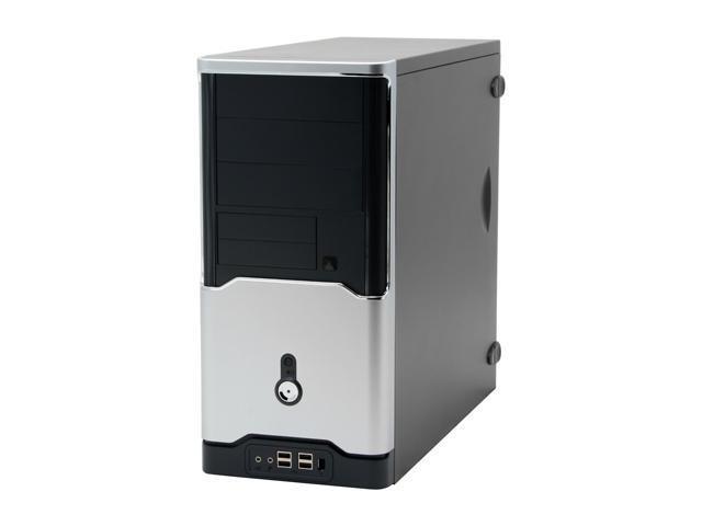 IN WIN IW-S606T2.J350SL Black/ Silver Steel ATX Mid Tower Computer Case 350W Power Supply