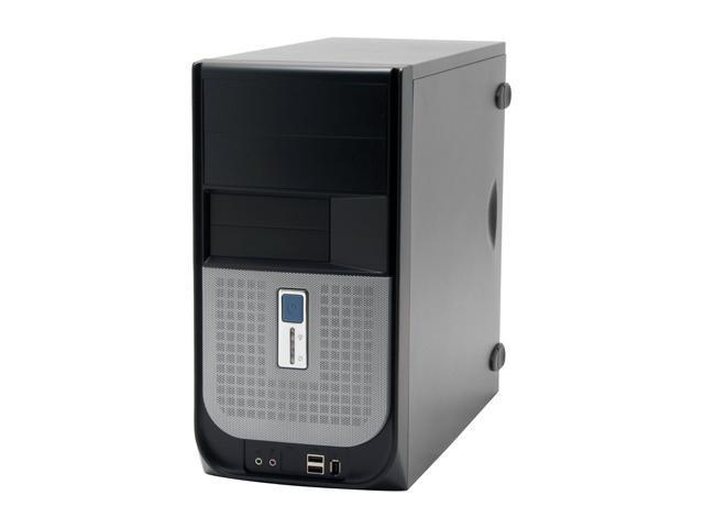 IN WIN IW-V605T2.J350SL Black-Siliver Steel ATX Mini Tower Computer Case 350W Power Supply