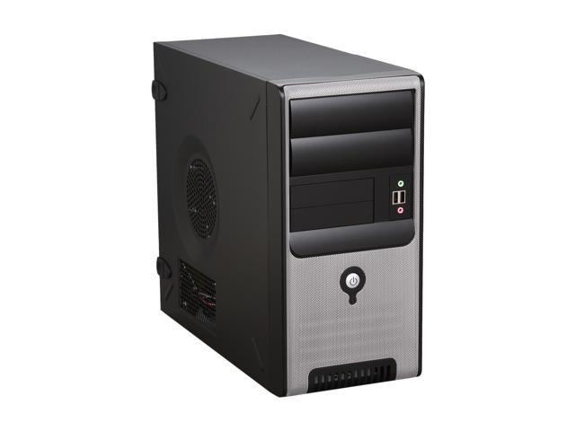 IN WIN Z583.CH350TB Black / Silver Steel MicroATX Mini Tower Computer Case 350W Power Supply