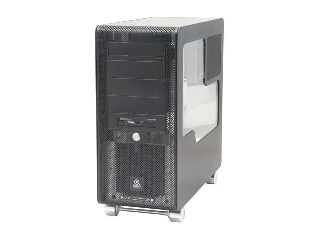 LIAN LI PC-V1000BPLUSII W Black Aluminum ATX Mid Tower Computer Case