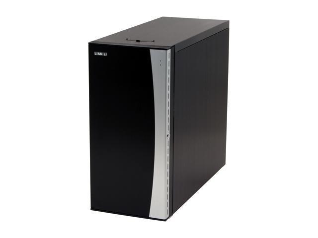LIAN LI PC-B20B Black Aluminum ATX Mid Tower Computer Case