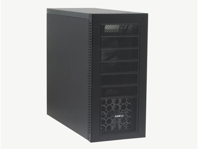 LIAN LI PC-A16B Black Aluminum ATX Mid Tower Computer Case