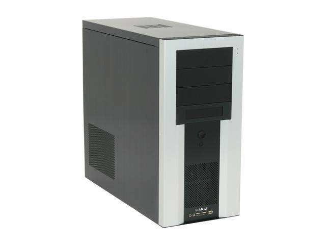LIAN LI PC-7SB Black/ Silver Aluminum ATX Mid Tower Computer Case
