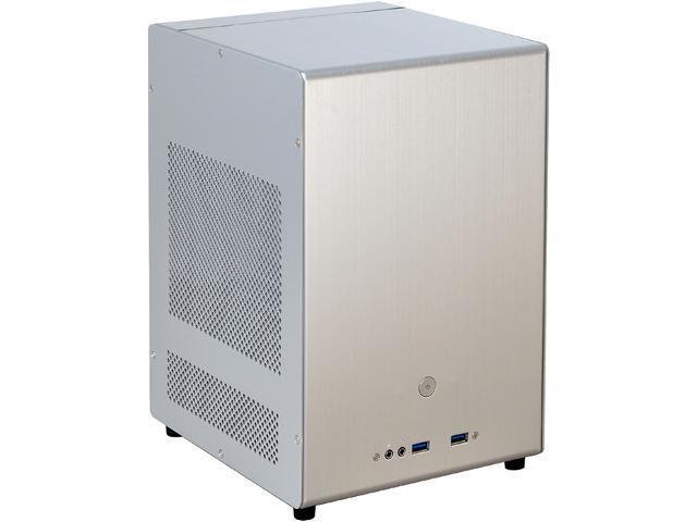 LIAN LI PC-Q04A Silver Aluminum Computer Case ATX PSU (Optional) Power Supply