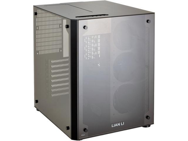 LIAN LI PC-O8SWX Black Aluminum and Tempered glass Computer Case