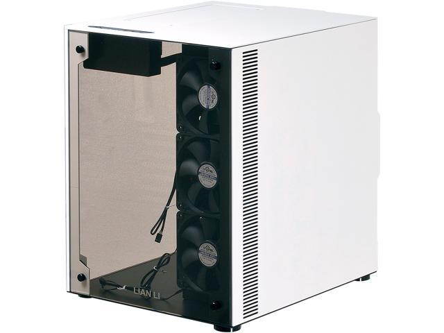 LIAN LI PC-O8WBW White with black interior Aluminum / Tempered Glass ATX Mid Tower Computer Case