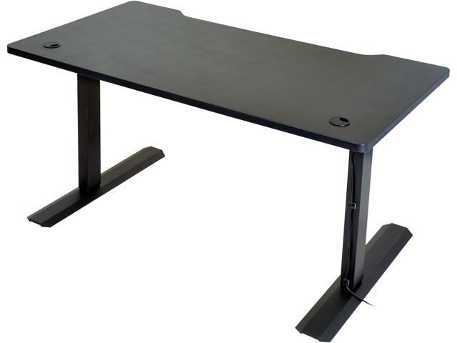 LIAN LI DK-12X Black Wood, and Steel Electronic Adjustable Computer Desk