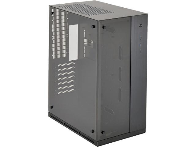 LIAN LI PC-O10WX Black Aluminum / Tempered Glass Computer Case SFX PSU (Optional) Power Supply